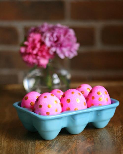 Try polkdot Easter eggs