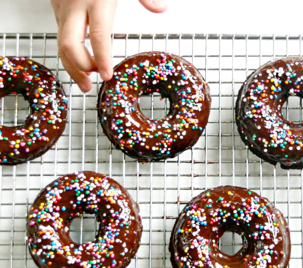 homemade donuts for the blog