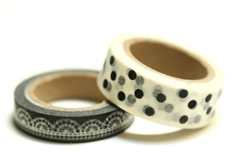 black and white washi tape