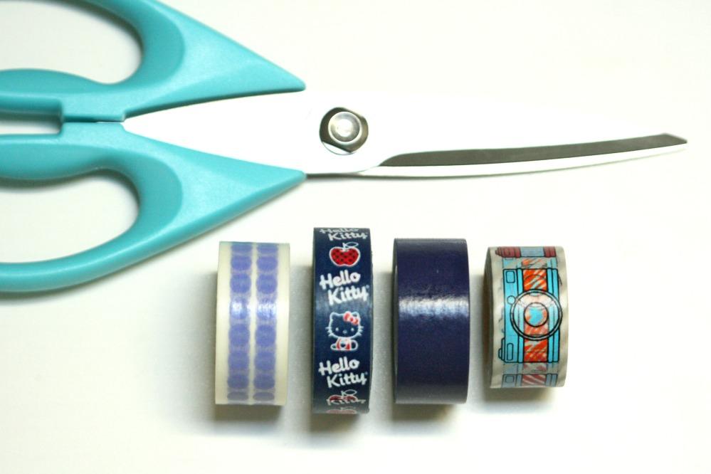 blue tape and scissors