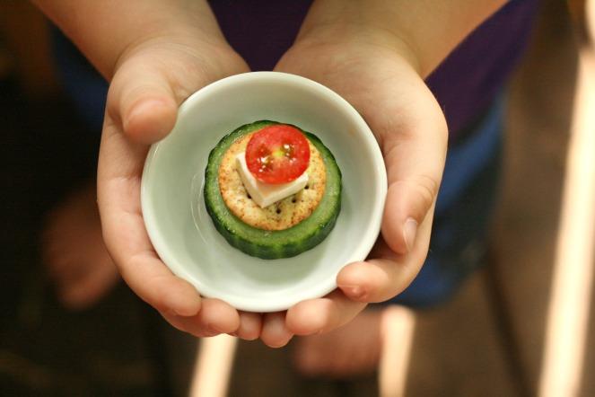 cuke and tomato