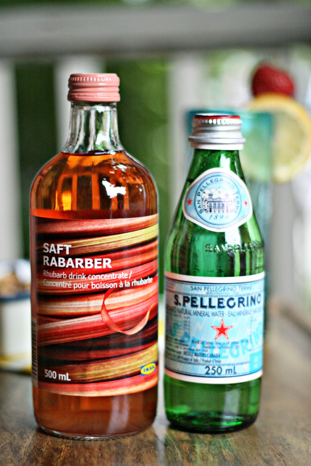 IKEA syrup and pellegrino