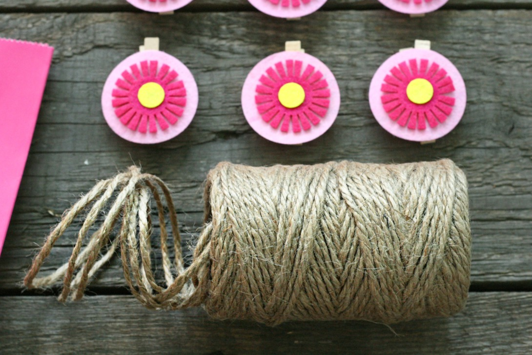 twine and clothespegs