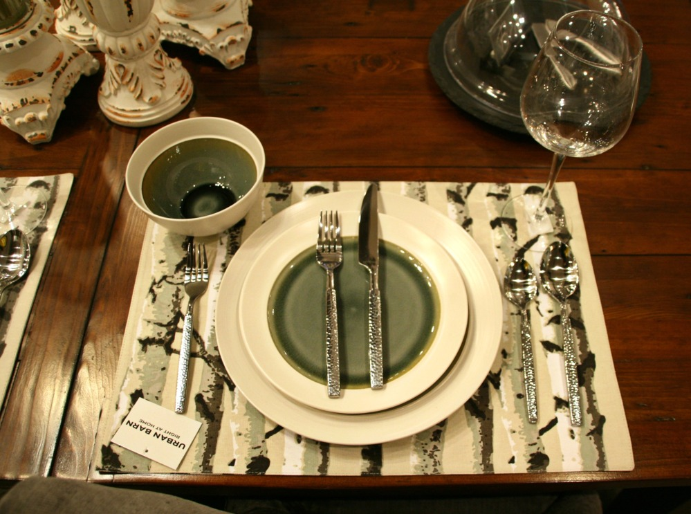 urban barn third table place setting
