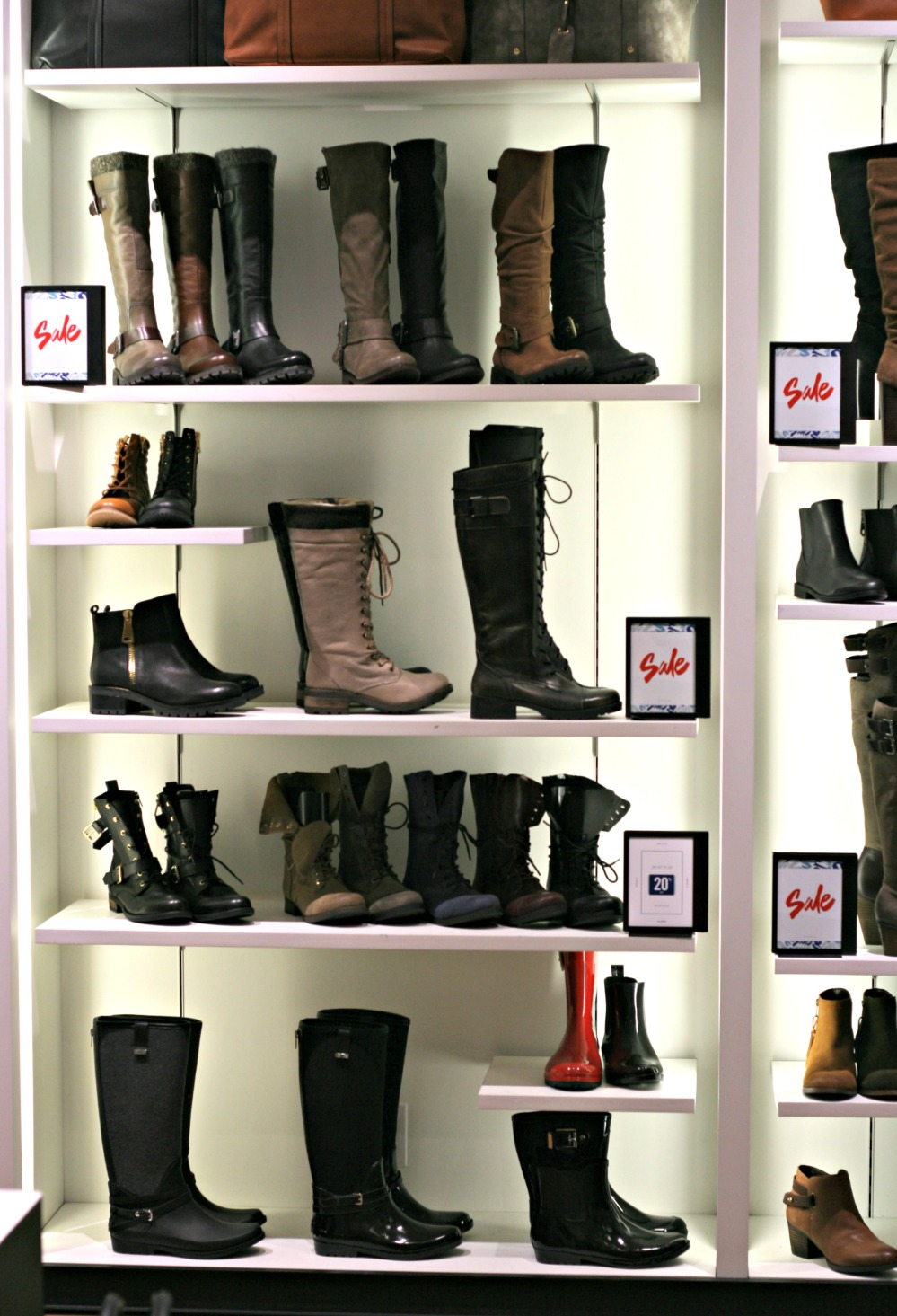 aldo wall of boots