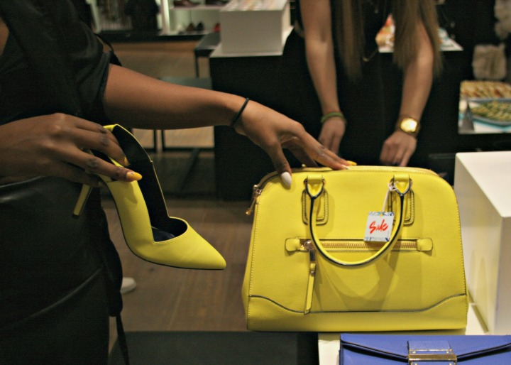aldo spring yellow bag and shoe