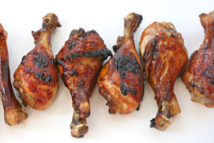 maple-glazed drumsticks