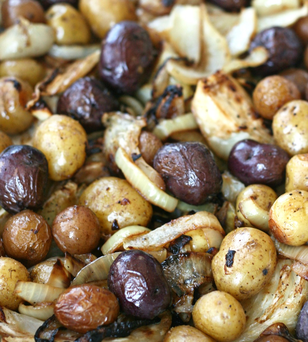 roasted fennel with fingerling potatoes