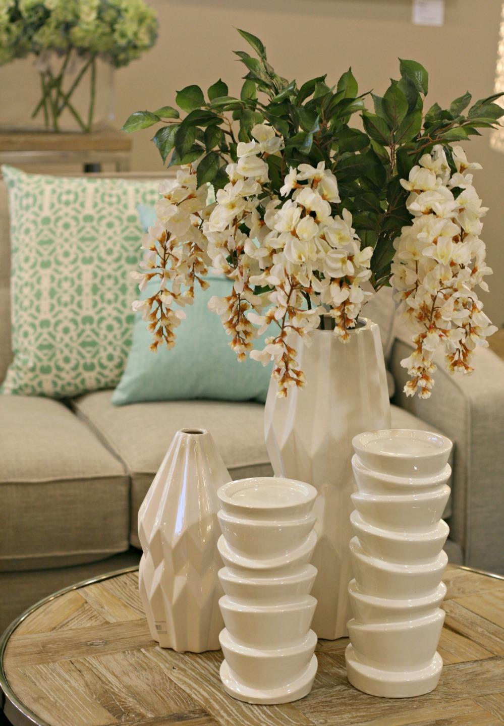 UB white vases