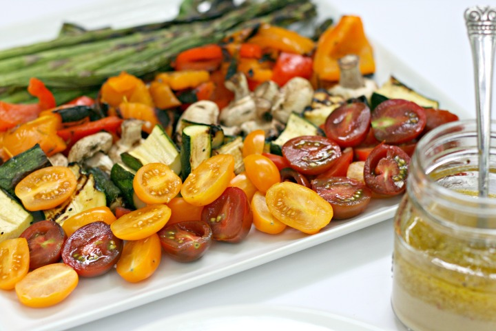 Ricardo grilled veggie salad garlic