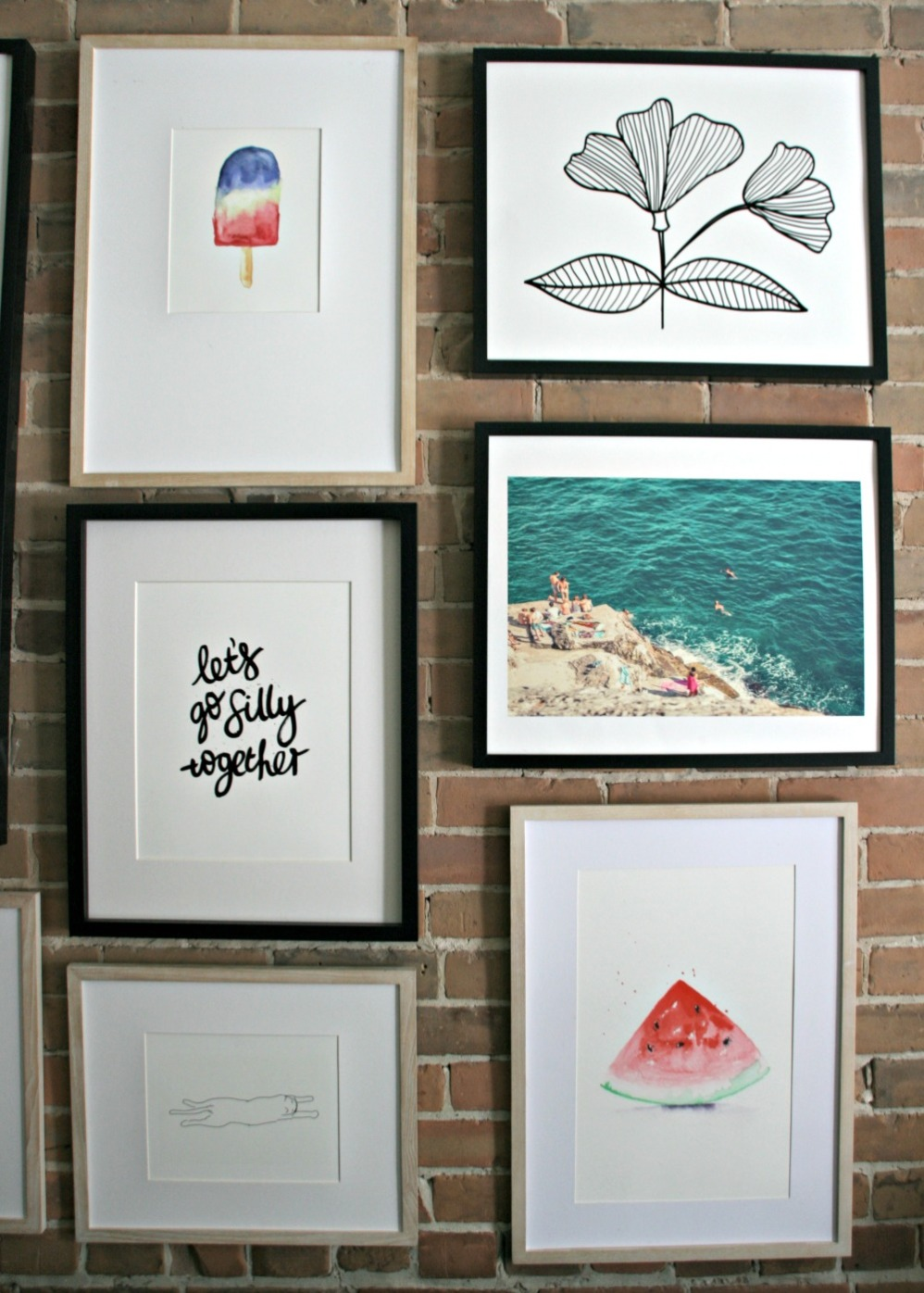 minted gallery wall mixed prints
