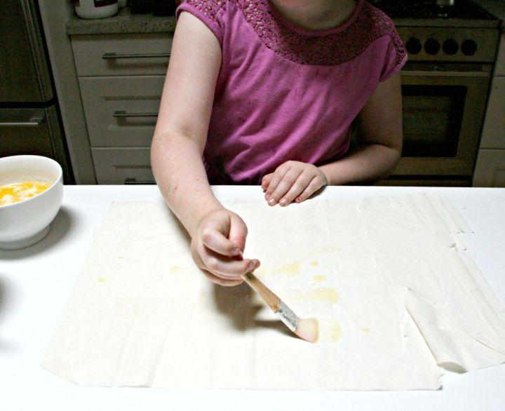 baklava buttering phyllo 2