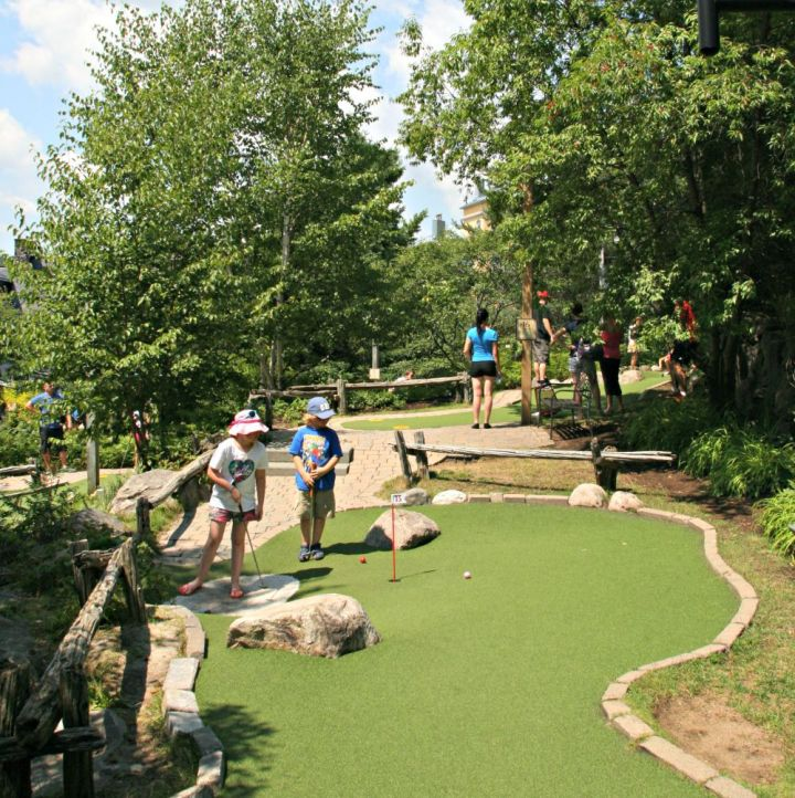 tremblant Lily and James mini golf