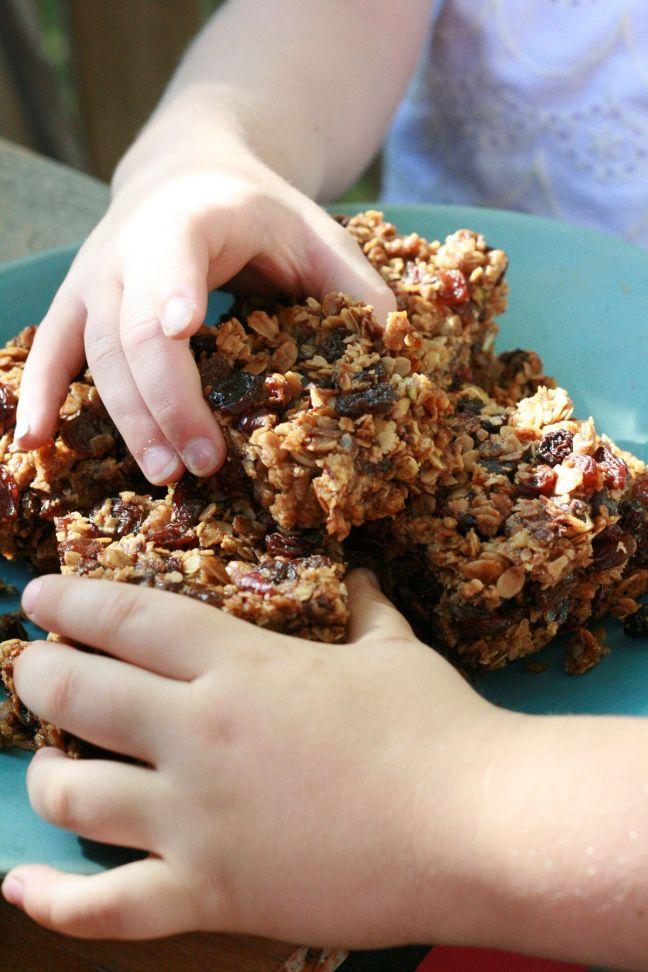 granola bars for the blog