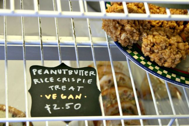 herschel peanut butter rice crispy treat