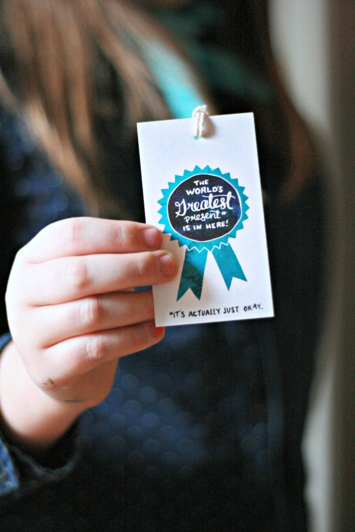 CardBox Sea and Lake gift tag