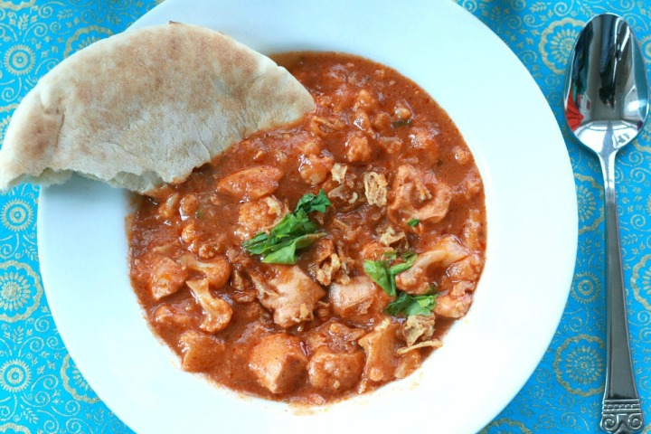 Slow Cooker Butter Chicken and Cauliflower + A giveaway!