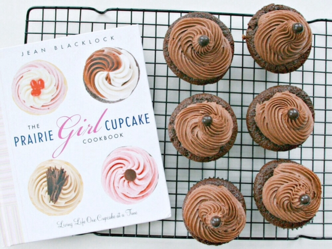 The Prairie Girl Cupcake Cookbook dark cocoa cupcakes with chocolate cream cheese icing 3.jpg