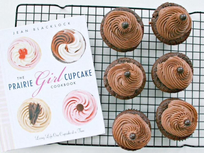 The Prairie Girl Cupcake Cookbook dark cocoa cupcakes with chocolate cream cheese icing 3.jpg
