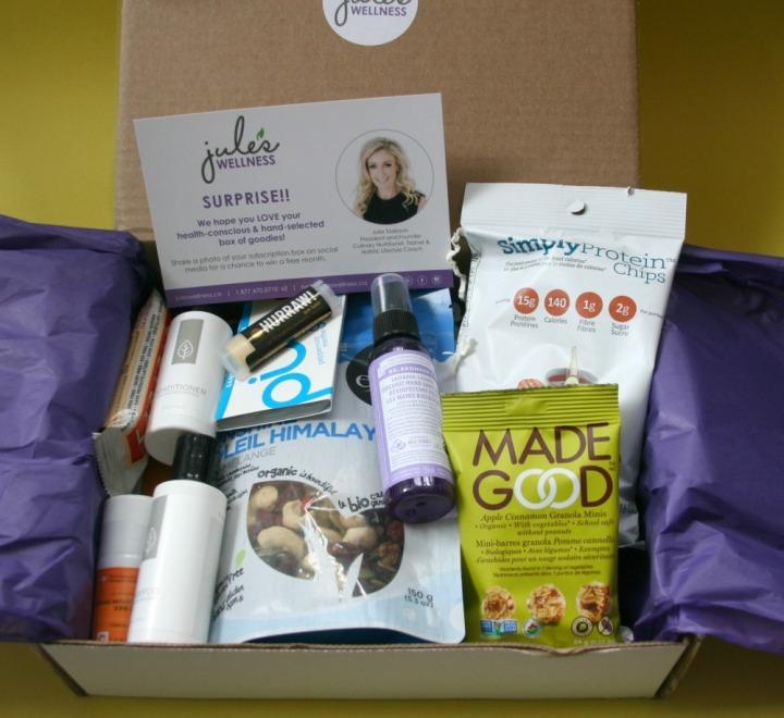 Jules Wellness March 2016 box