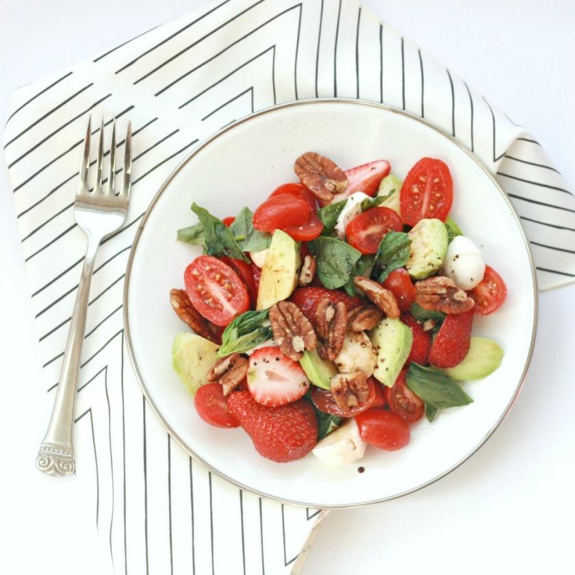 Love and Lemons avocado strawberry caprese salad