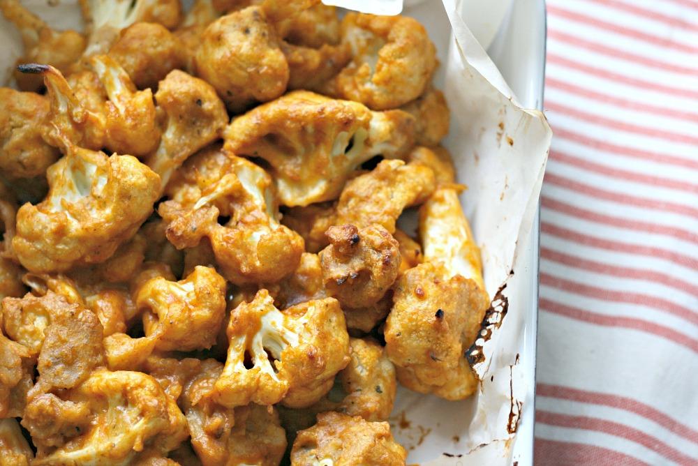 Made with Love cauliflower wings with sriracha sauce