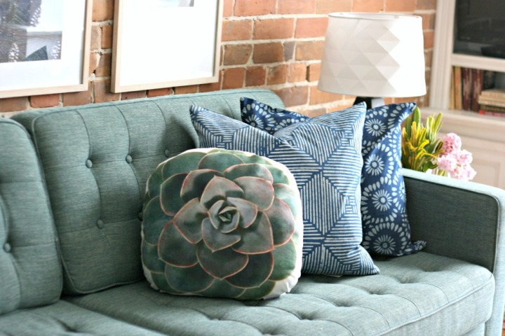Minted botanicals cactus pillow Urban Barn