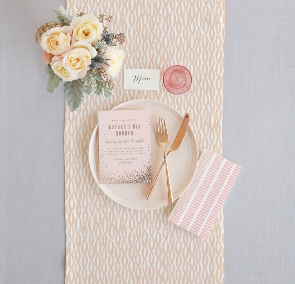 Minted Mother's Day brunch invitation