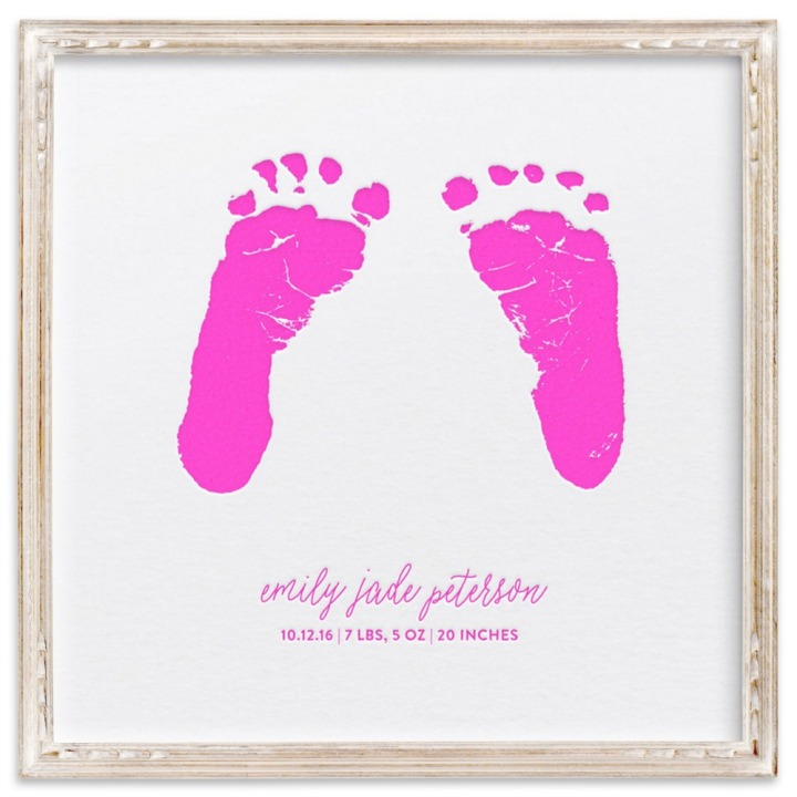 Minted Mother's Day footprints