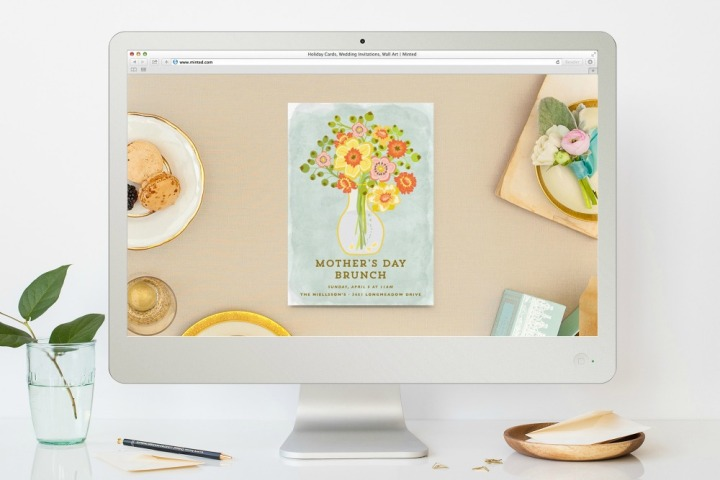 Minted Mother's Day online invitation