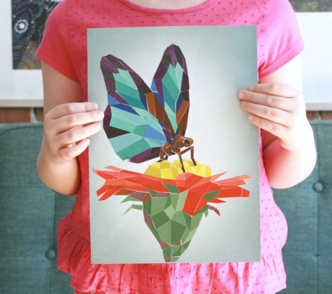 Paint by Sticker butterfly picture