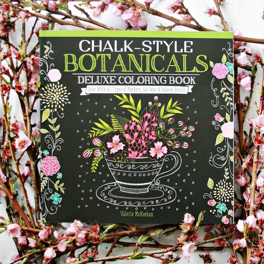Chalk-Style Botanicals Deluxe Coloring Book by Valerie McKeehan