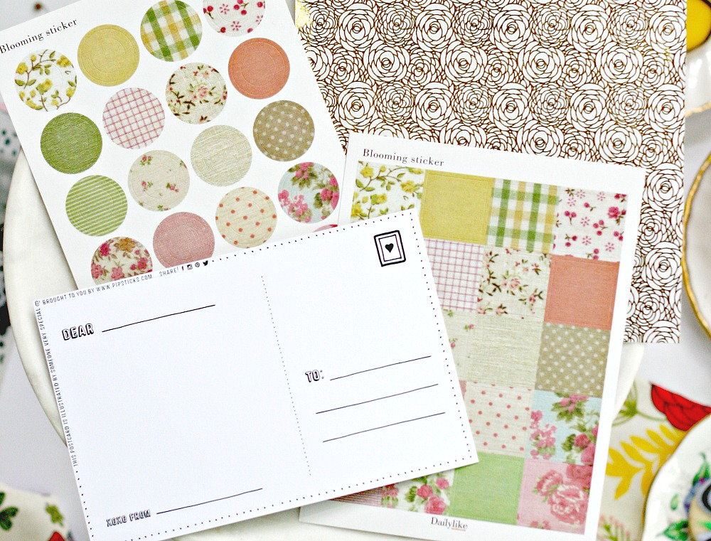 Pipsticks Blooming stickers and postcard
