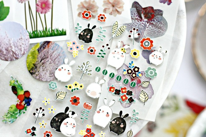 Pipsticks May Pro Club Pack flowers and bunnies close up