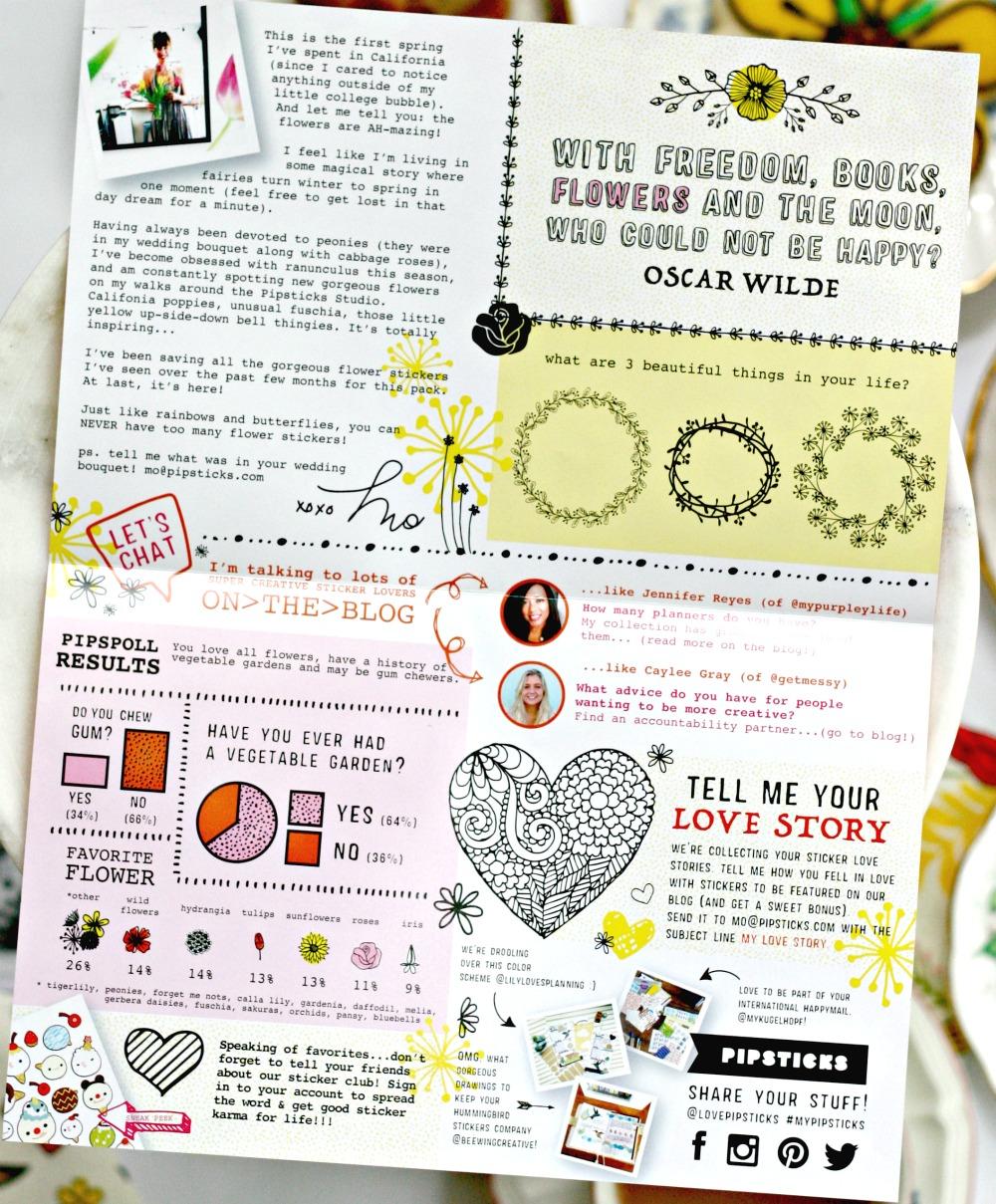 Pipsticks newsletter
