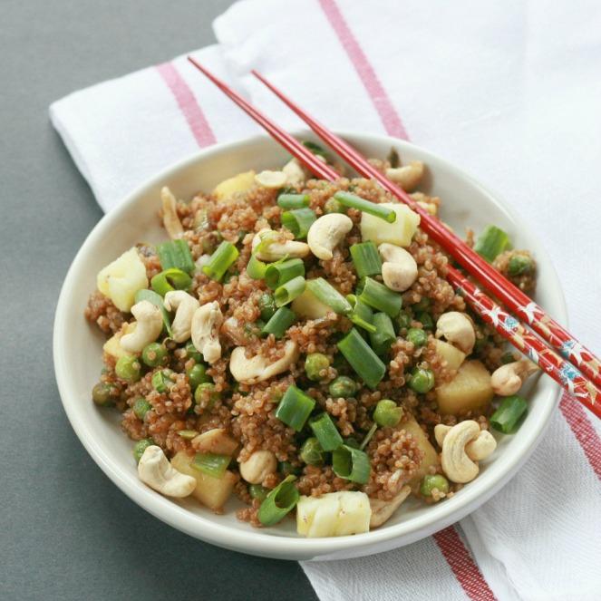 The Minimalist Baker Garlic Pineapple Stir-Fried Quinoa 1000