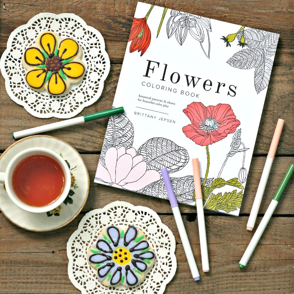 Flowers Coloring Book by Brittany Jepsen cover