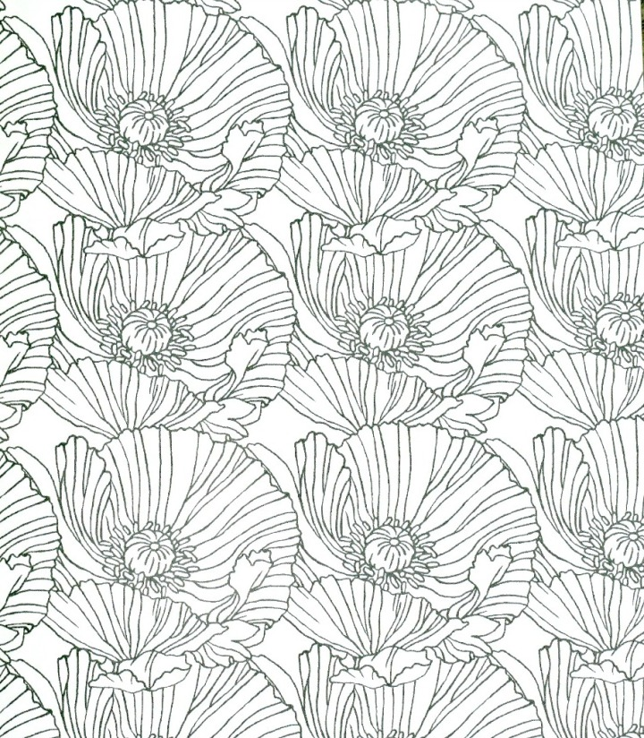 Flowers Coloring Book By Brittany Jepsen Pattern