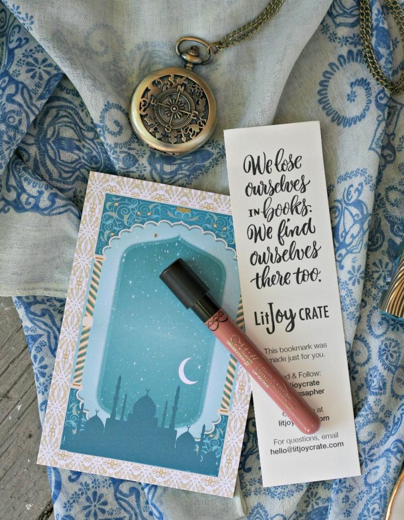 LitJoy CRATE bookmark lipgloss notepad pocket watch