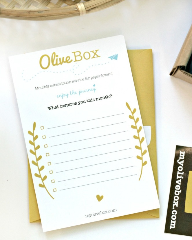 OliveBox What inspires you this month