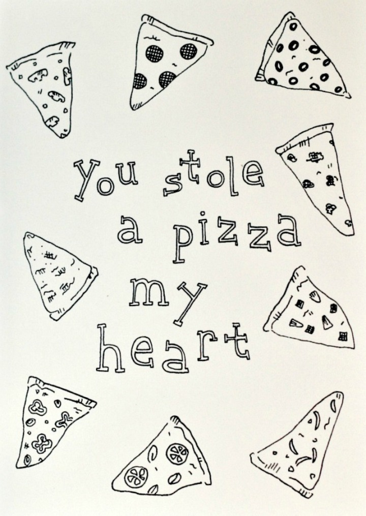 OliveBox you stole a pizza my heart card