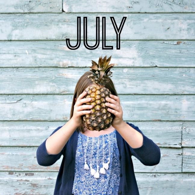 Old Navy boho jumpsuit and pineapple July