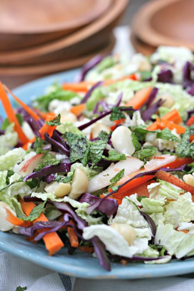 Canadian Living Essential Salads Macadamia Nut Slaw close up