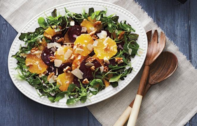 Canadian Living Essential Salads Orange and Beet Salad with Parmesan Curls original