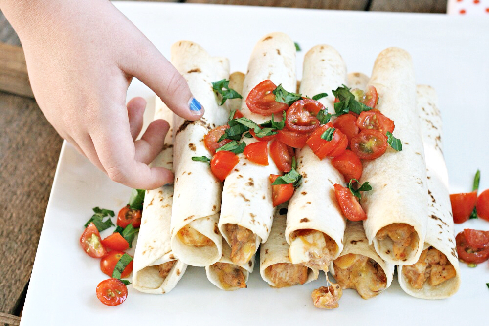i heart naptime baked chicken taquitos feature image