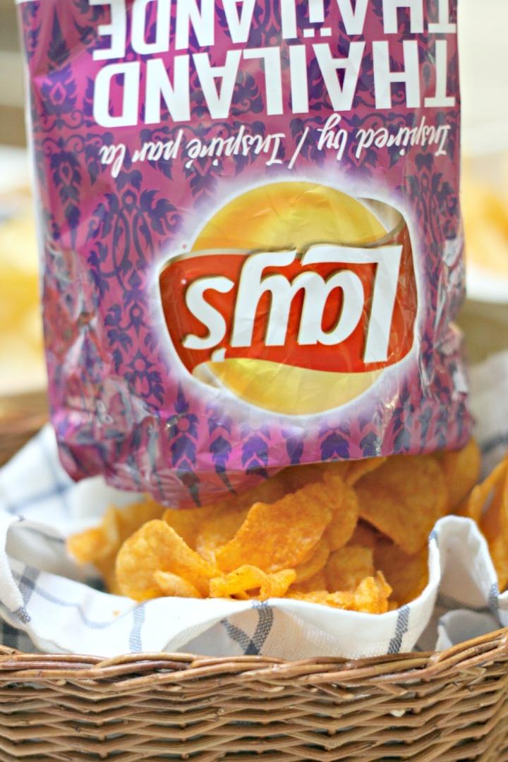 Lay's Thai Sweet Chili bag upside down