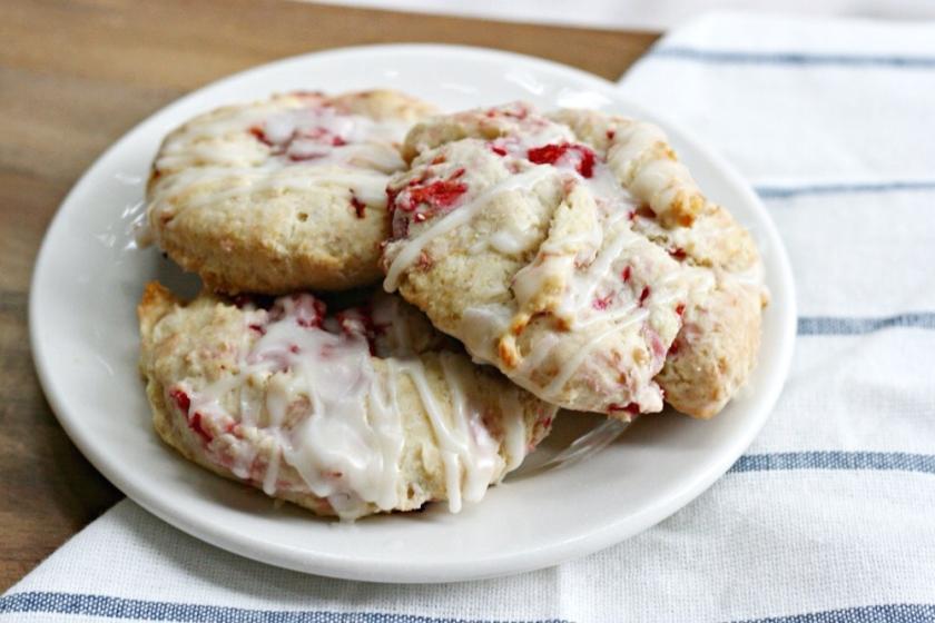 The I Heart Naptime Cookbook raspberry cream scones 4