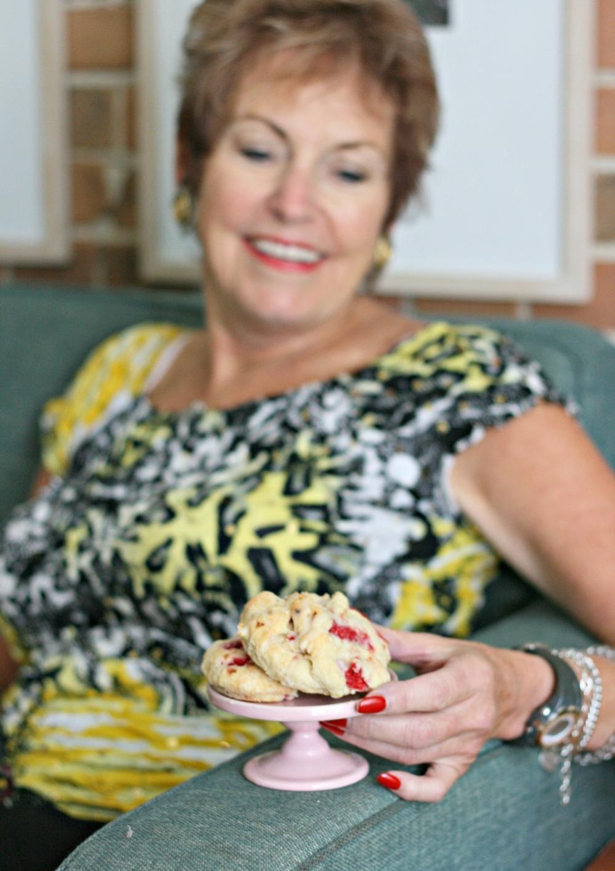 The I Heart Naptime Cookbook raspberry cream scones