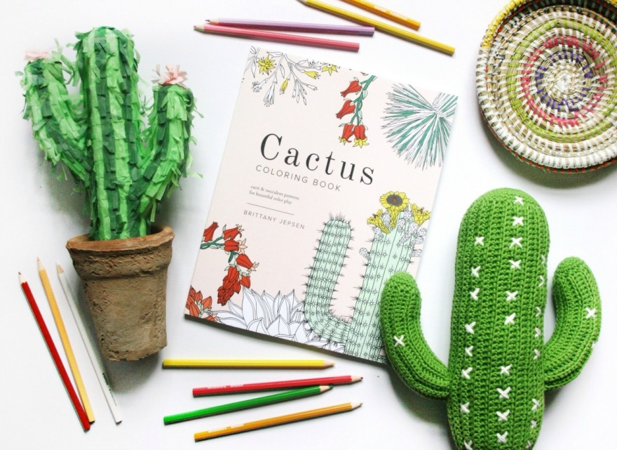 Flowers Coloring Book Brittany Jepsen Cactus By Win A Copy