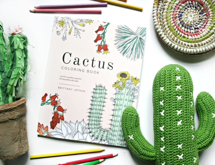 Cactus Colouring Book By Brittany Jepson Close Up